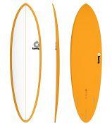 Surfboard TORQ Epoxy TET 6.8 Funboard White Orange